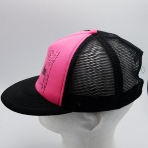 District Accessories - District Goat rock climbing pink black trucker hat